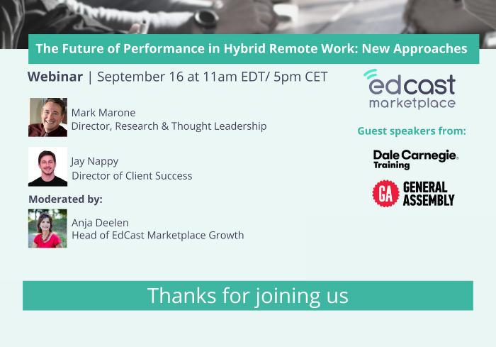 Sept. 16 webinar - Thanks for joining us
