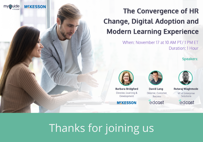 WEBINAR: The Convergence of HR Change, Digital Adoption and Modern Learning Experience