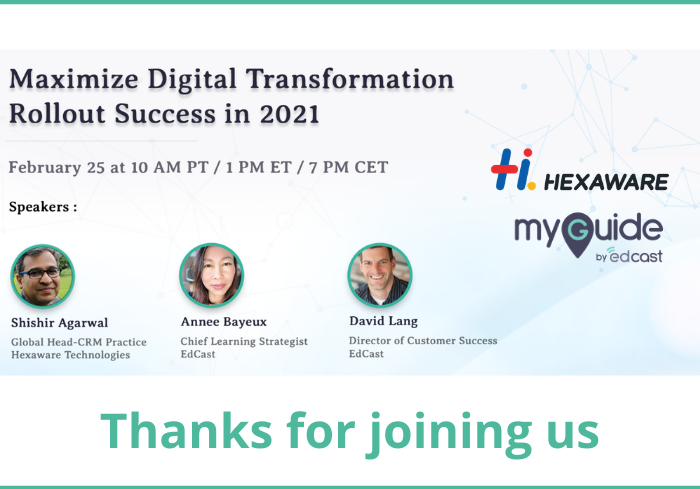 Thanks for joining us - hexaware